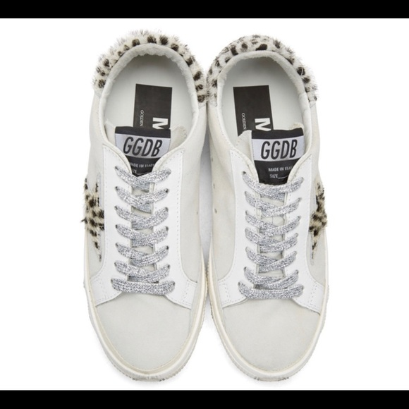 d34e29f1 Golden Goose Shoes - White suede leopard May sneakers. 10. Golden goose
